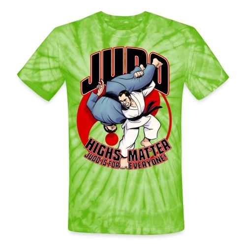 Judo Highs Matter - Unisex Tie Dye T-Shirt