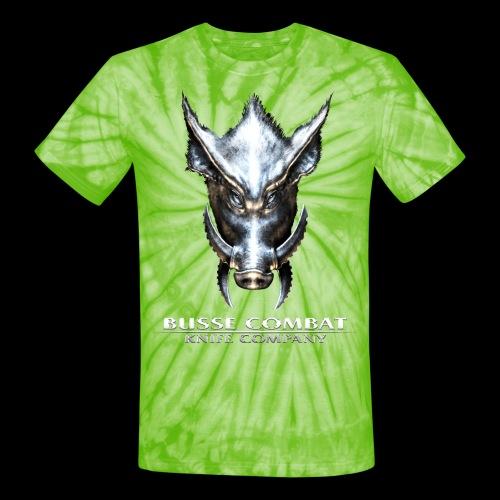 Busse Combat Light Text - Unisex Tie Dye T-Shirt