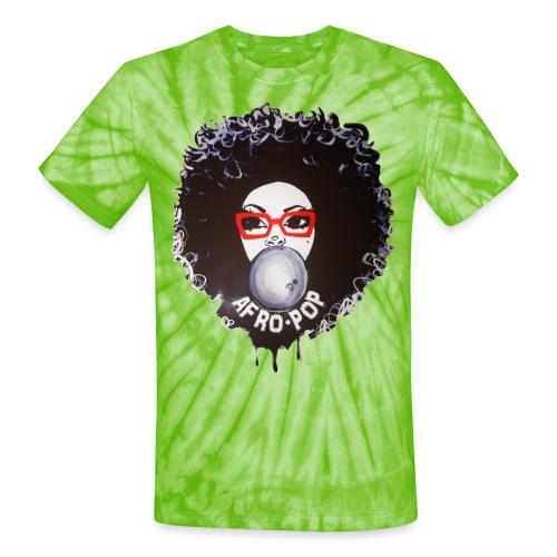 Afro pop_ - Unisex Tie Dye T-Shirt