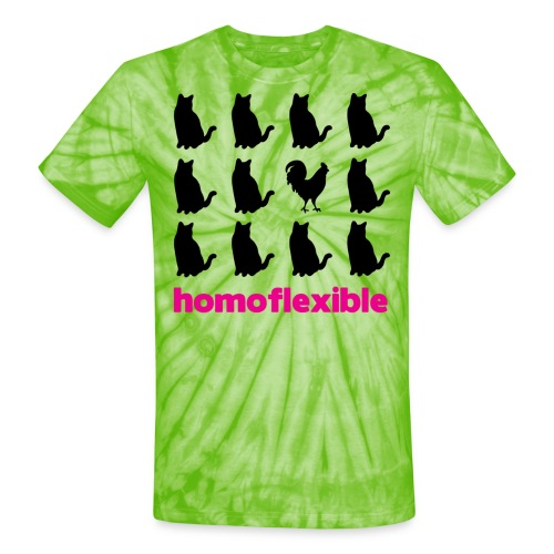 Homoflexible Female - Unisex Tie Dye T-Shirt