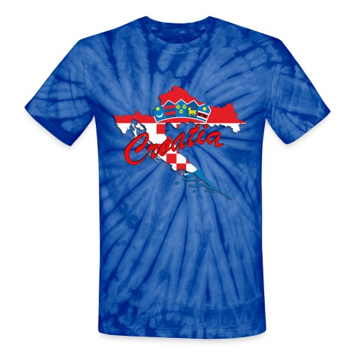 Croatia Football Team Colours T-Shirt Treasure Des - Unisex Tie Dye T-Shirt