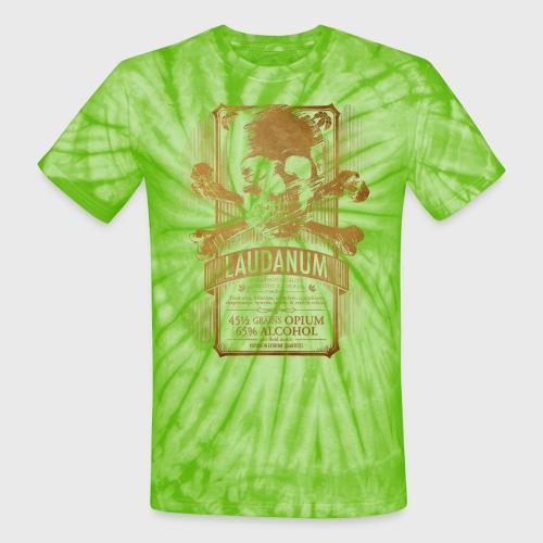 Laudanum Goth Steampunk Medical Doctor - Unisex Tie Dye T-Shirt