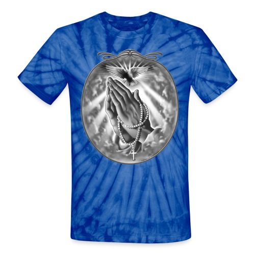 Praying Hands by RollinLow - Unisex Tie Dye T-Shirt