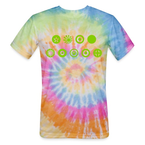 Axis & Allies Country Symbols - One Color - Unisex Tie Dye T-Shirt