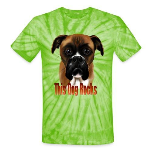 This Dog Rocks - Unisex Tie Dye T-Shirt