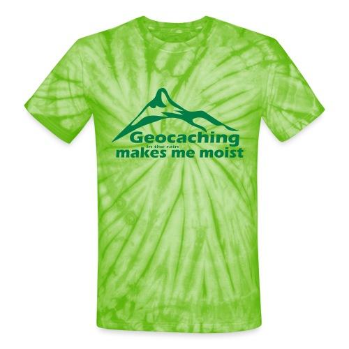 Geocaching in the Rain - Unisex Tie Dye T-Shirt