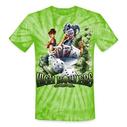 High Roller by RollinLow - Unisex Tie Dye T-Shirt