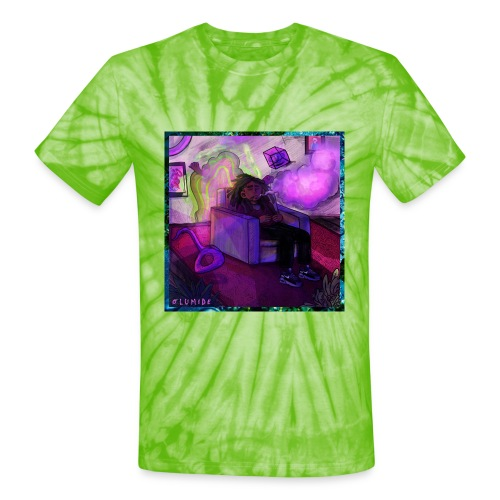 Olumide - Slowed Down & Smoked Out Cover Art - Unisex Tie Dye T-Shirt