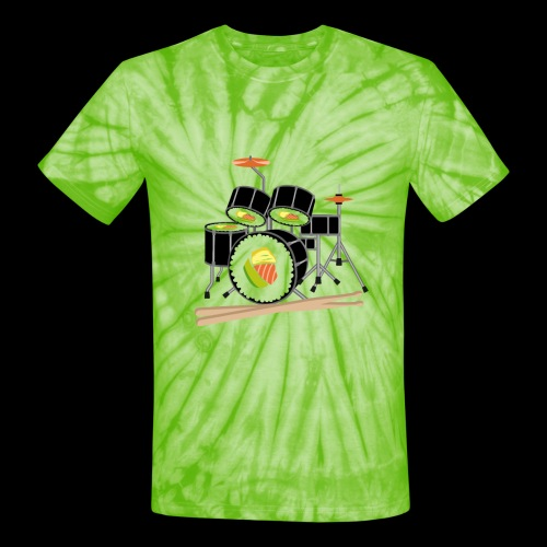 Sushi Roll Drum Set - Unisex Tie Dye T-Shirt