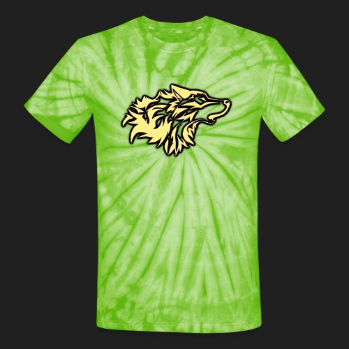 wolfepacklogobeige png - Unisex Tie Dye T-Shirt