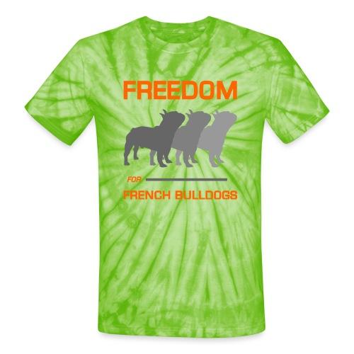 French Bulldogs - Unisex Tie Dye T-Shirt