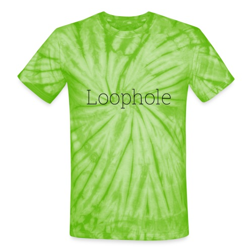 Loophole Abstract Design - Unisex Tie Dye T-Shirt
