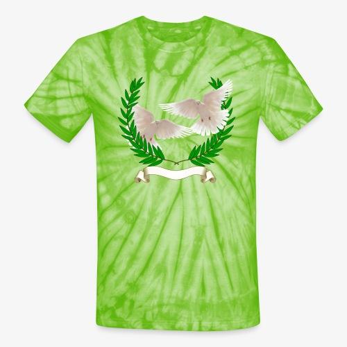 OLIVE BRANCH DOVES - Unisex Tie Dye T-Shirt
