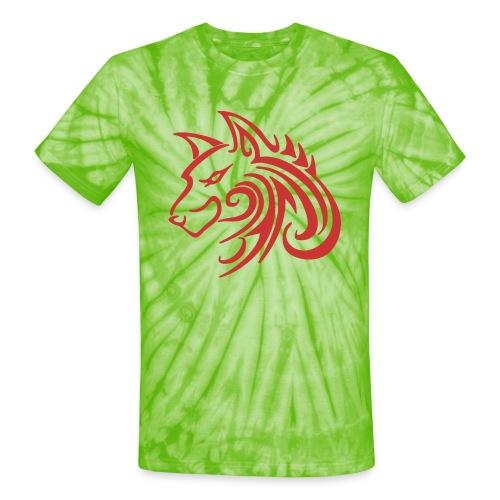3d31c4ec40ea67a81bf38dcb3d4eeef4 wolf 1 red wolf c - Unisex Tie Dye T-Shirt