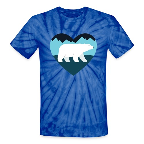 Polar Bear Love - Unisex Tie Dye T-Shirt