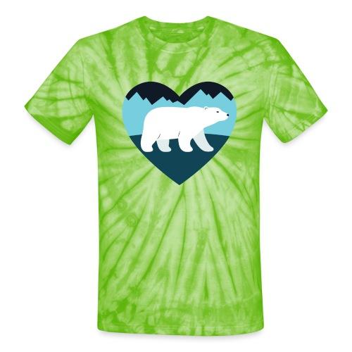 Polar Bear Love - Unisex Tie Dye T-Shirt