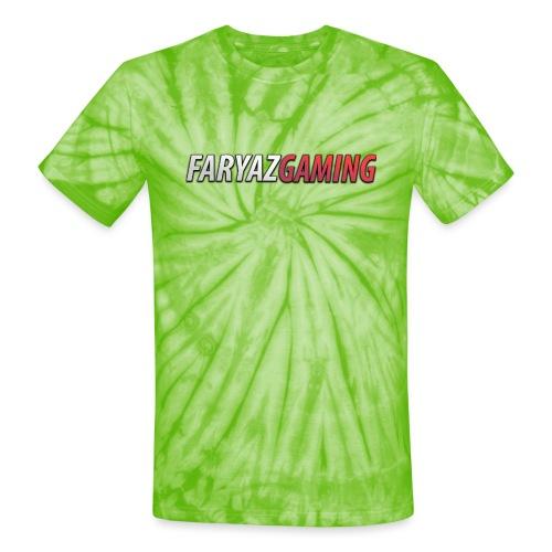 FaryazGaming Text - Unisex Tie Dye T-Shirt