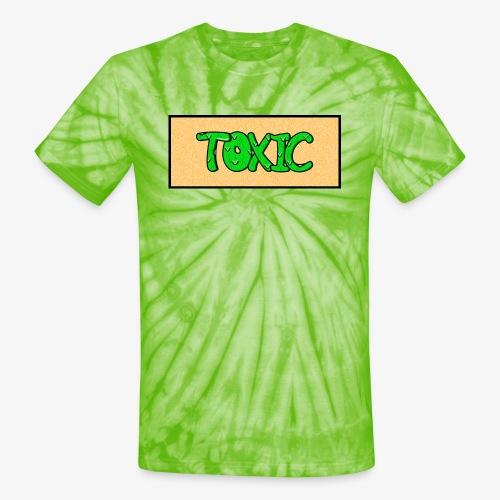 Toxic design v2 Orange - Unisex Tie Dye T-Shirt