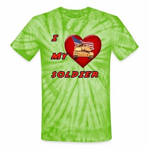 I Heart my Soldier - Unisex Tie Dye T-Shirt