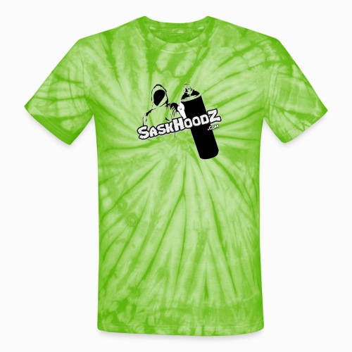 saskhoodz logo black - Unisex Tie Dye T-Shirt