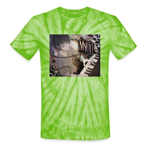 Dark Piano 1 - Unisex Tie Dye T-Shirt