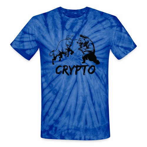 CryptoBattle Black - Unisex Tie Dye T-Shirt