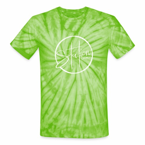White Logo - Unisex Tie Dye T-Shirt
