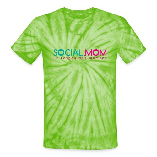 Social.mom logo français - Unisex Tie Dye T-Shirt