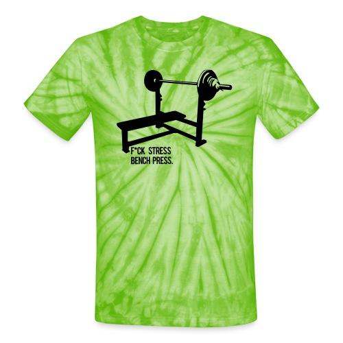 F*ck Stress bench press - Unisex Tie Dye T-Shirt
