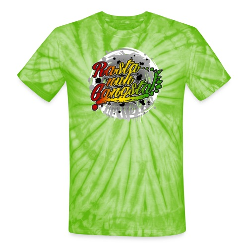 Rasta nuh Gangsta - Unisex Tie Dye T-Shirt