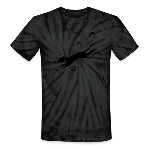 Daisy 1 black - Unisex Tie Dye T-Shirt