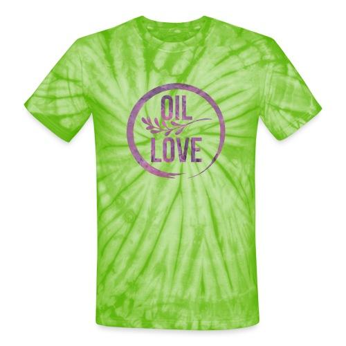 Oil Love Purple - Unisex Tie Dye T-Shirt