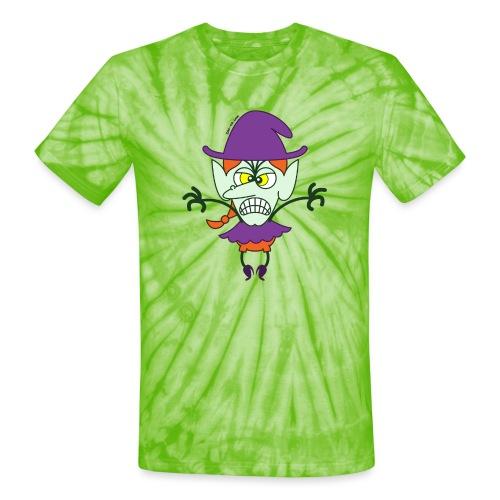 Scary Halloween Witch - Unisex Tie Dye T-Shirt