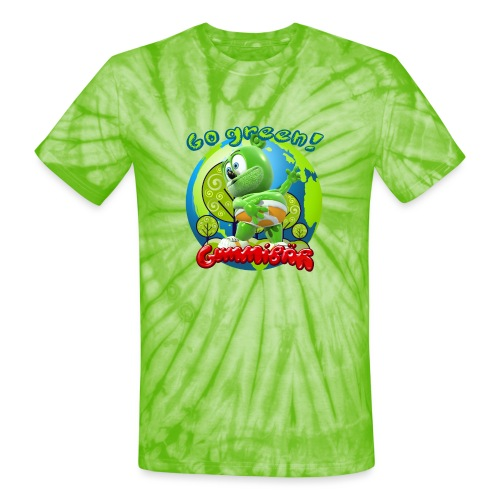 Gummibär Go Green Earth Day Earth - Unisex Tie Dye T-Shirt