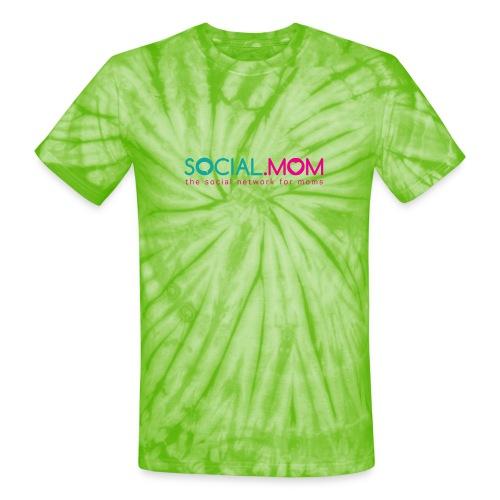 Social.mom Logo English - Unisex Tie Dye T-Shirt