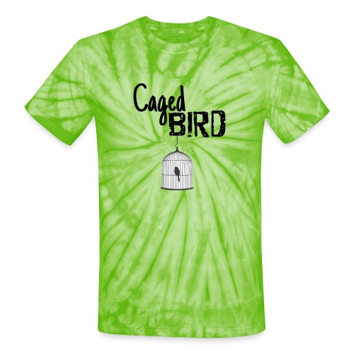 Caged Bird Abstract Design - Unisex Tie Dye T-Shirt