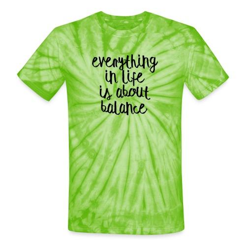 Balance - Unisex Tie Dye T-Shirt