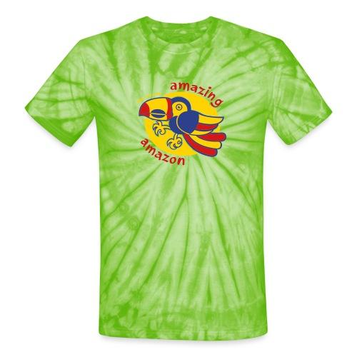 Amazonian Toucan - Unisex Tie Dye T-Shirt