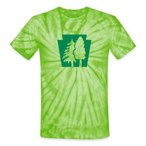 PA Keystone w/trees - Unisex Tie Dye T-Shirt