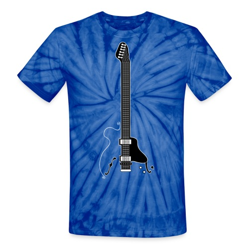 Electric Guitar - Unisex Tie Dye T-Shirt