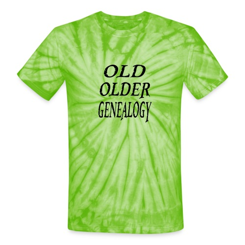 Old older genealogy family tree funny gift - Unisex Tie Dye T-Shirt