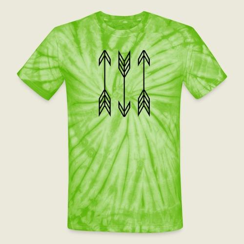 arrow symbols - Unisex Tie Dye T-Shirt