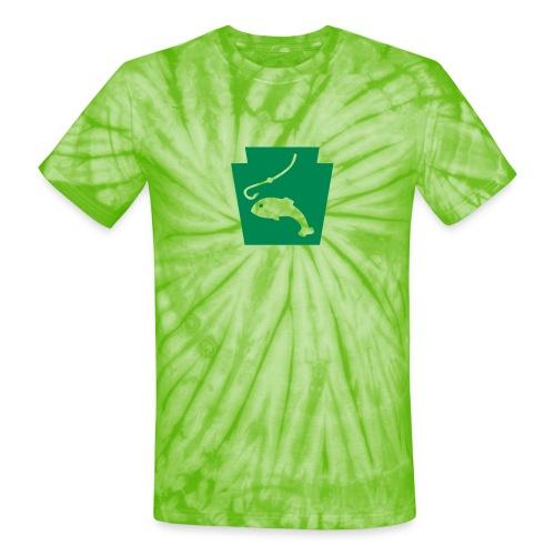 Pennsylvania Fishing Keystone PA - Unisex Tie Dye T-Shirt
