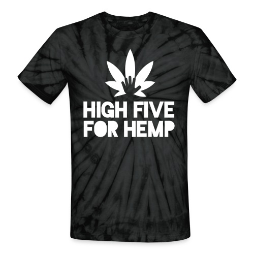 High Five for Hemp - Unisex Tie Dye T-Shirt
