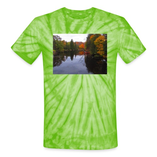 Nature Coffee Cup - Unisex Tie Dye T-Shirt