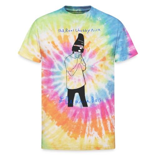 Chubby Nick Beanie Design - Unisex Tie Dye T-Shirt