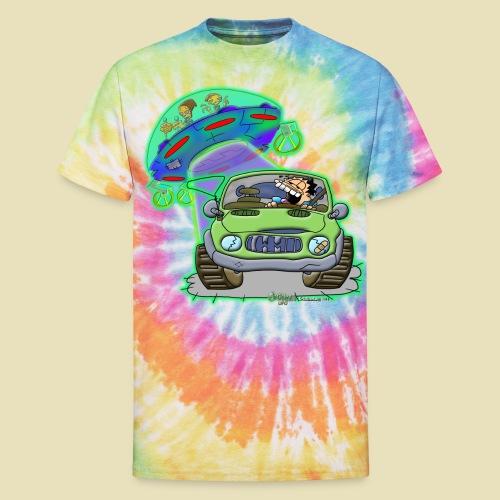 GrisDismation Ongher's UFO Alien Abduction - Unisex Tie Dye T-Shirt
