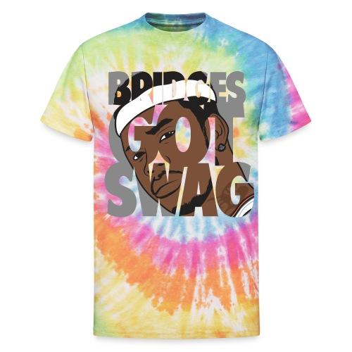 Men's Hoodie - #BridgesGotSwag - Unisex Tie Dye T-Shirt