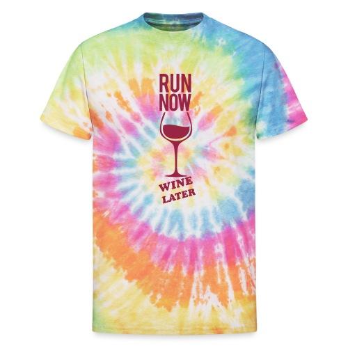 Run Now Gym Motivation - Unisex Tie Dye T-Shirt