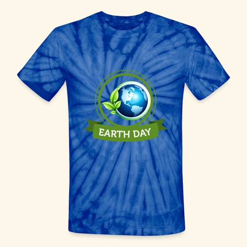 Happy Earth day - 3 - Unisex Tie Dye T-Shirt